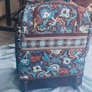 Vera Bradley Java Blue Carry On Rolling Luggage